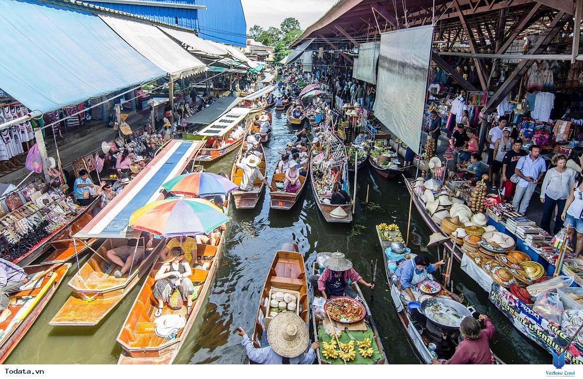 Cùng trải nghiệm chợ nổi Damnoen Saduak tại Thái Lan