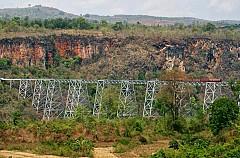 Đi cầu Viaduct Goteik bằng chuyến đường sắt trên cao cho người thích mạo hiểm