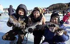 Lễ hội bắt cá hồi trên băng Sancheoneo Hwacheon