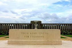 Cảnh vật yên bình tại nghĩa trang chiến tranh Htauk Kyant