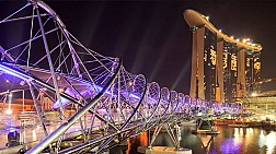 Cây cầu xoắn ốc độc đáo Helix Bridge