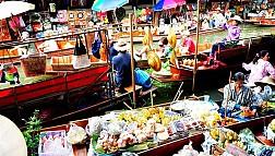 Chẳng cần đi đâu xa, đến ngay khu Chợ Nổi Damnoen Saduak để cảm nhận nét văn hóa Thái