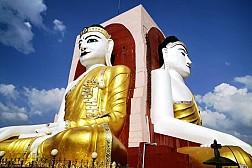 Chùa Tượng Phật 4 Mặt Kyaitpun tráng lệ trong lãnh địa Phật giáo Myanmar