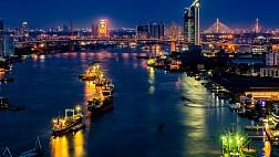 Hình ảnh về đêm ở Sông Chao Phraya, Bangkok, Thái Lan