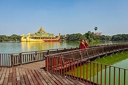 Hồ Kandawgyi, hồ nước nhân tạo đẹp nhất Yangon