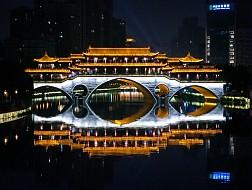 Khó cưỡng lại với ánh đèn Cầu Anshun ở Thành Đô