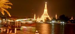 Lung linh huyền ảo với khi đêm đến ở Sông Chao Phraya Thái Lan