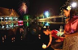 Ngắm đèn trời trong lễ hội Loy Krathong tại Chiang Mai