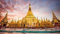 Ngắm vẻ đẹp Chùa Shwe Mor Daw dát vàng