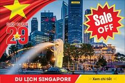 Singapore 4N3Đ KH dịp lễ Quốc Khánh