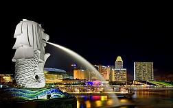 Sư tử biển Merlion biểu tượng của quốc đảo Singapore
