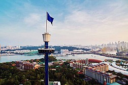 Toàn cảnh Singapore nhìn từ tháp vọng cảnh Tiger Tower