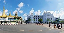 Trắng toát Tòa Thị Chính Thành Phố Yangon Myanmar