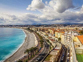 Bãi biển Promenade des Anglais, Pháp