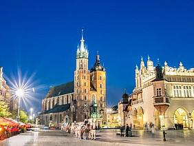 Chợ quảng trường ở Krakow, Ba Lan