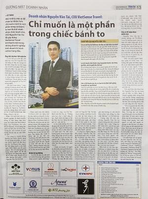 Chân dung Giám đốc VietSense Travel trên Báo Đầu Tư