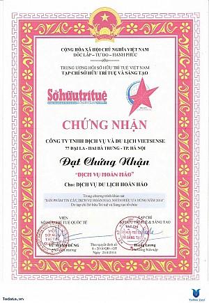 VietSense Travel Nhận Giải Thưởng Dịch Vụ Hoàn Hảo