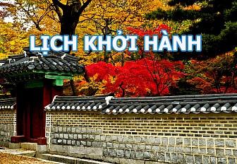 Lịch Khởi Hành Tour Hàn Quốc Mùa Lá Đỏ 2016