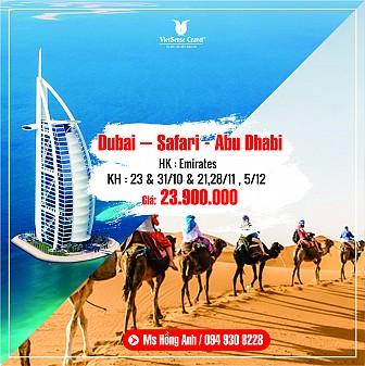Dubai - Abu Dhabi 6N5Đ tháng 10, 11, 12 năm 2018