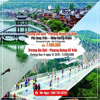 Trương Gia Giới - Phượng Hoàng Cổ Trấn 6N5Đ - Đường Bộ - KH thứ 5 HT 2018