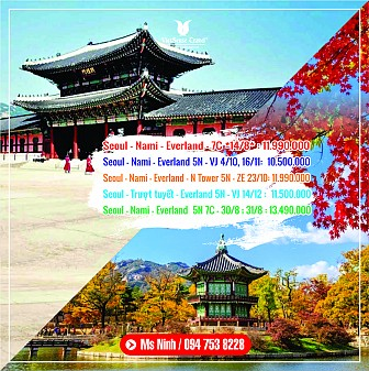 Mùa lá đỏ Seoul - Everland - Nami - N Tower 5n4d