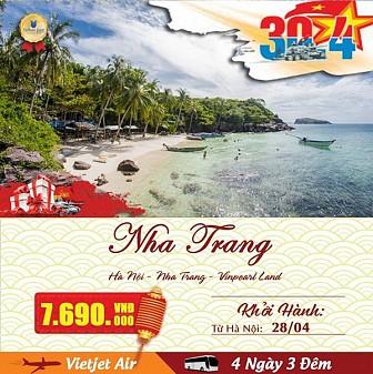 Tour Du Lịch Sài Gòn - Nha Trang 4 ngày 3 đêm. Khởi hành dịp lễ 30/04