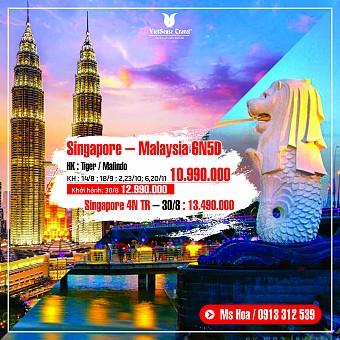 Malaysia - Singapore 6 Ngày 5 Đêm Khởi Hành tháng 8,9,10,11/2018