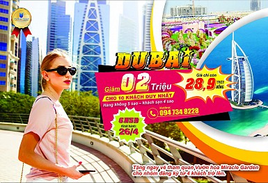 DUBAI - ABU DHABI KHỞI HÀNH TỪ HÀ NỘI DỊP 30/4 & 1/5/2018