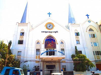 Tòa thị chính thành phố Yangon Myanmar