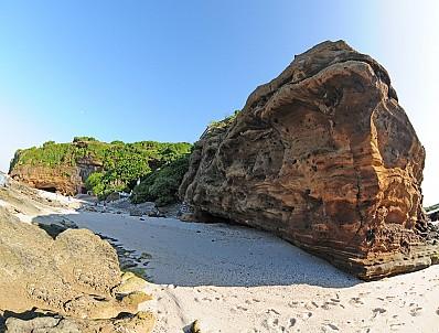 Vách đá trầm tích núi lửa triệu năm