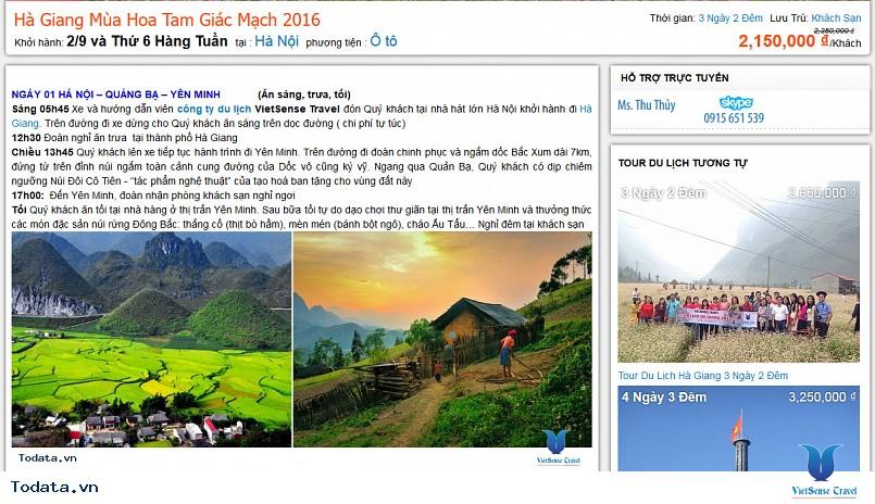 Hướng dẫn đăng ký tour trực tuyển trên Todata.vn - Ảnh 3