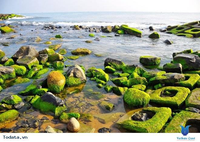 Kè chắn sóng Xóm Rớ thành bãi đá rêu xanh hút hồn du khách - Ảnh 1