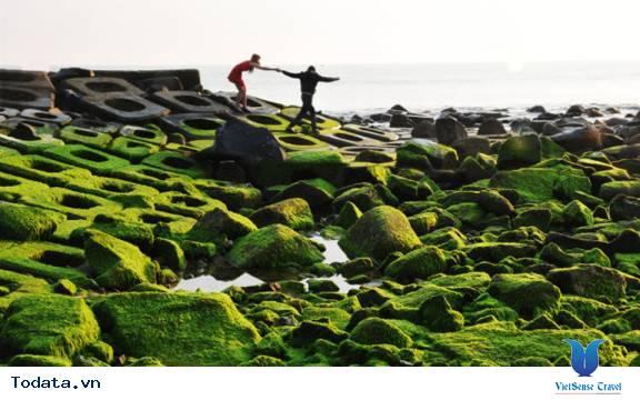 Kè chắn sóng Xóm Rớ thành bãi đá rêu xanh hút hồn du khách - Ảnh 4